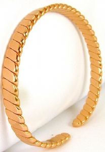B73: Flattened Twisted Copper Bangle